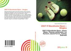 Copertina di 2007 If Stockholm Open – Singles