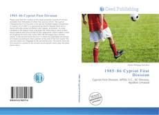 Portada del libro de 1985–86 Cypriot First Division