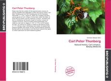 Bookcover of Carl Peter Thunberg