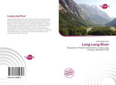 Copertina di Lang Lang River