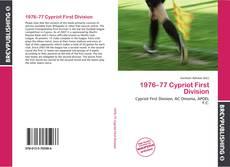 Portada del libro de 1976–77 Cypriot First Division