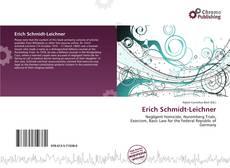 Buchcover von Erich Schmidt-Leichner