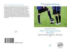 Portada del libro de 1951–52 Cypriot First Division