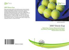 Bookcover of 2007 Davis Cup