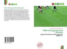 Portada del libro de 1944–45 Cypriot First Division