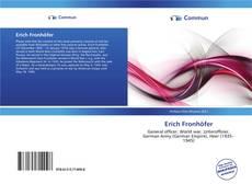 Buchcover von Erich Fronhöfer