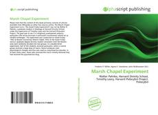 Copertina di Marsh Chapel Experiment