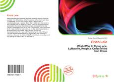 Bookcover of Erich Leie