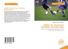 Bookcover of 2000–01 Austrian Football Bundesliga