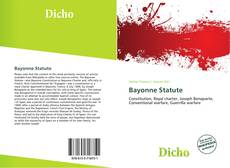 Bookcover of Bayonne Statute