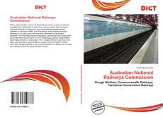Bookcover of Australian National Railways Commission