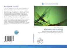 Bookcover of Fundamental ontology