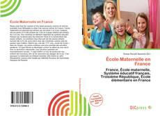 Copertina di École Maternelle en France