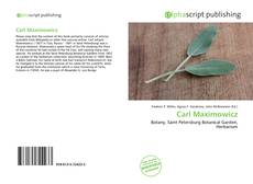 Couverture de Carl Maximowicz