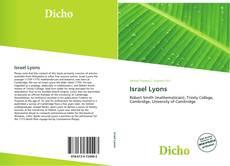 Обложка Israel Lyons