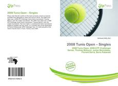 Bookcover of 2008 Tunis Open – Singles