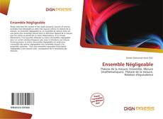 Bookcover of Ensemble Négligeable