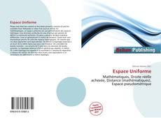 Bookcover of Espace Uniforme