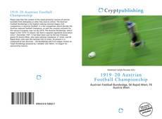 Copertina di 1919–20 Austrian Football Championship