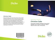 Bookcover of Christian Saba