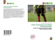 Copertina di 1915–16 Austrian Football Championship