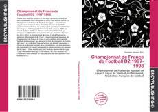 Championnat de France de Football D2 1997-1998 kitap kapağı