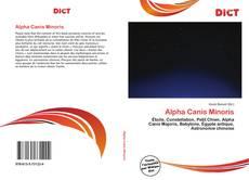 Portada del libro de Alpha Canis Minoris