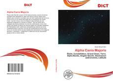 Couverture de Alpha Canis Majoris