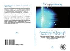 Championnat de France de Football D2 1993-1994 kitap kapağı