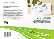 Christian Ferdinand Friedrich Hochstetter kitap kapağı