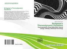 Обложка Bridgman's Thermodynamic Equations