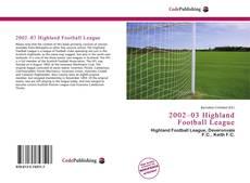 Bookcover of 2002–03 Highland Football League