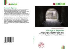 Couverture de George E. Mylonas