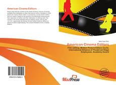 Portada del libro de American Cinema Editors