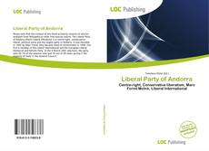 Couverture de Liberal Party of Andorra