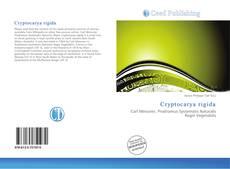 Buchcover von Cryptocarya rigida