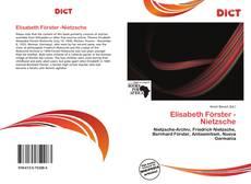 Bookcover of Elisabeth Förster -Nietzsche