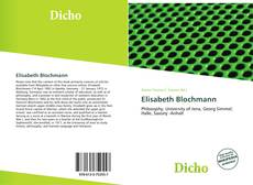 Bookcover of Elisabeth Blochmann