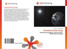 Analytical Sociology kitap kapağı