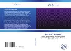 Capa do livro de Aetolian campaign