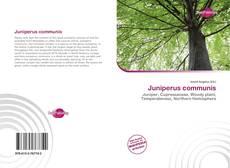 Bookcover of Juniperus communis