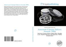 Buchcover von American Cinema Editors Awards 2006