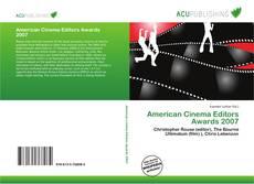 Portada del libro de American Cinema Editors Awards 2007