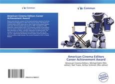 Portada del libro de American Cinema Editors Career Achievement Award