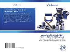 Copertina di American Cinema Editors Career Achievement Award