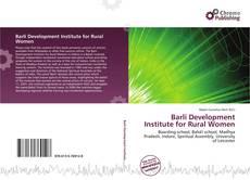Barli Development Institute for Rural Women kitap kapağı