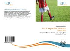 Bookcover of 1943 Argentine Primera División