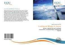 Bookcover of Lockheed Model 9 Orion
