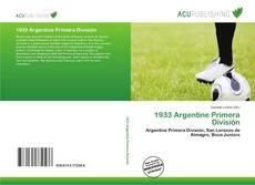 Bookcover of 1933 Argentine Primera División