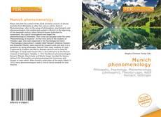 Capa do livro de Munich phenomenology